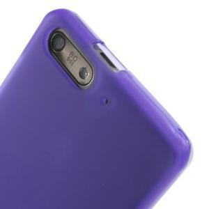 Matné gelové pouzdro na Huawei Ascend G6 - fialové - 5