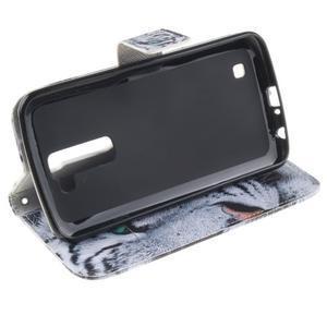 Peněženkové pouzdro na mobil LG K10 - bílý tygr - 5