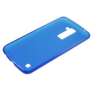 Matný gelový kryt na LG K10 - modrý - 5