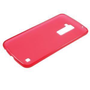 Matný gelový kryt na LG K10 - červený - 5