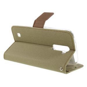 Style PU kožené pouzdro pro LG K10 - khaki - 5