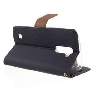 Style PU kožené pouzdro pro LG K10 - černé - 5