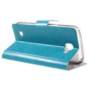 Horse PU kožené pouzdro na mobil LG K4 - modré - 5
