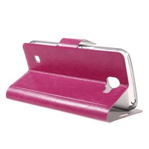 Horse PU kožené pouzdro na mobil LG K4 - rose - 5