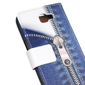 Style peněženkové pouzdro na LG K4 - jeans - 5