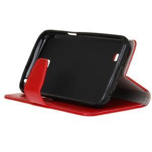 Leat peněženkové pouzdro na LG K4 - červené - 5