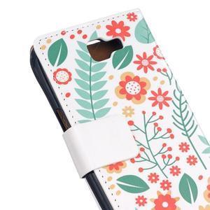 Style peněženkové pouzdro na LG K4 - květinová koláž - 5