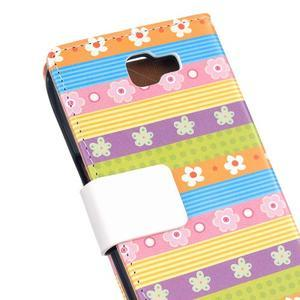 Style peněženkové pouzdro na LG K4 - barevné květiny - 5