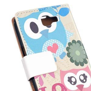 Style peněženkové pouzdro na LG K4 - zamilované sovičky - 5