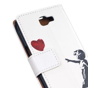 Style peněženkové pouzdro na LG K4 - letící srdce - 5