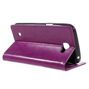 Fialové peněženkové pouzdro na LG K4 - 5