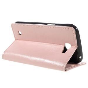 Růžové peněženkové pouzdro na LG K4 - 5