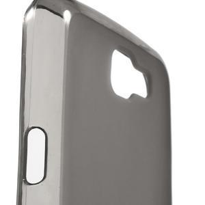 Matný gelový obal na mobil LG K4 - šedé - 5
