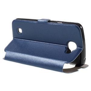 Trend pouzdro s okýnkem na mobil LG K4 - modré - 5