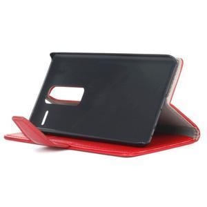 Sitt PU kožené pouzdro na mobil LG Zero - červené - 5