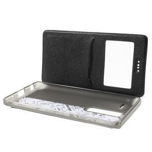 Cross peněženkové pouzdro s okýnkem na LG Zero - černé - 5