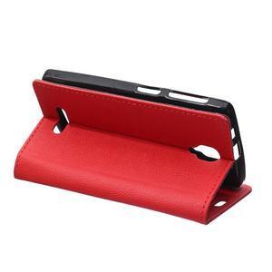 Wallet pouzdro na mobil Lenovo A1000 - červené - 5