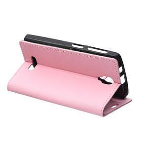 Wallet pouzdro na mobil Lenovo A1000 - růžové - 5