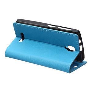 Wallet pouzdro na mobil Lenovo A1000 - modré - 5
