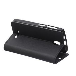 Wallet pouzdro na mobil Lenovo A1000 - černé - 5