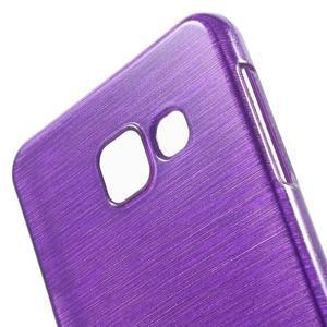 Gelový obal s motivem broušení na Samsung Galaxy A3 (2016) - fialový - 5