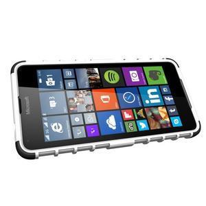 Outdoor odolný obal na mobil Microsoft Lumia 650 - bílý - 5