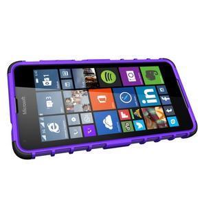Outdoor odolný obal na mobil Microsoft Lumia 650 - fialový - 5