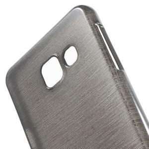 Gelový obal s motivem broušení na Samsung Galaxy A3 (2016) - černý - 5
