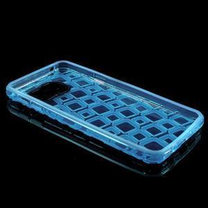 Square gelový obal na mobil Samsung Galaxy A3 (2016) - modrý - 5