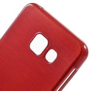 Gelový obal s motivem broušení na Samsung Galaxy A3 (2016) - červený - 5