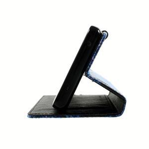 Peněženkové pouzdro na mobil Lenovo A536 - modrý motýl - 5