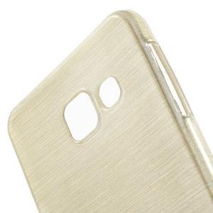 Gelový obal s motivem broušení na Samsung Galaxy A3 (2016) - zlatý - 5