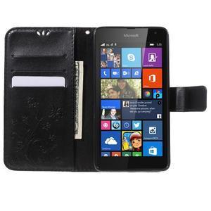 Butterfly peněženkové pouzdro na Microsoft Lumia 535 - černé - 5