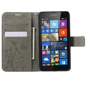 Butterfly peněženkové pouzdro na Microsoft Lumia 535 - šedé - 5