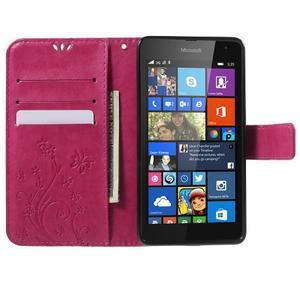 Butterfly peněženkové pouzdro na Microsoft Lumia 535 - rose - 5