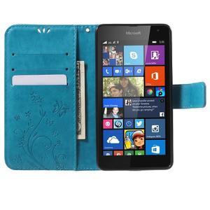 Butterfly peněženkové pouzdro na Microsoft Lumia 535 - modré - 5