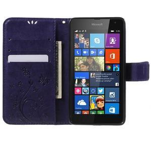 Butterfly peněženkové pouzdro na Microsoft Lumia 535 - fialové - 5