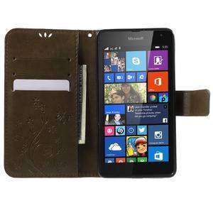 Butterfly peněženkové pouzdro na Microsoft Lumia 535 - coffee - 5