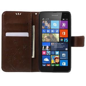 Butterfly peněženkové pouzdro na Microsoft Lumia 535 - hnědé - 5