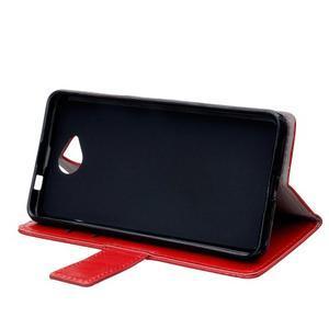 Fold peněženkové pouzdro na Microsoft Lumia 650 - červené - 5