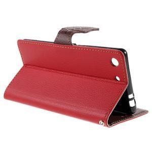 Blade peněženkové pouzdro na Sony Xperia M5 - červené - 5