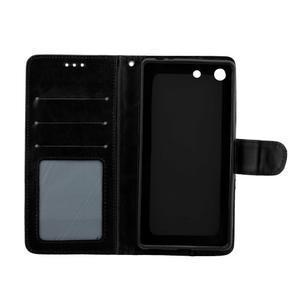 Horse PU kožené pouzdro na Sony Xperia M5 - černé - 5