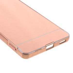 Kryt s kovovým obvodem pro Sony Xperia M5 - rose gold - 5