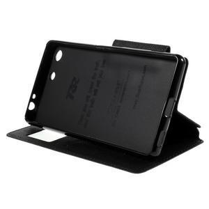 Diary pouzdro s okýnkem na Sony Xperia M5 - černé - 5
