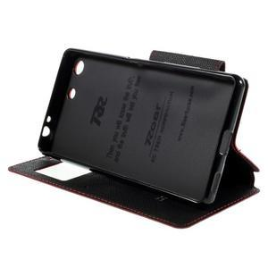Diary pouzdro s okýnkem na Sony Xperia M5 - červené - 5