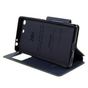 Diary pouzdro s okýnkem na Sony Xperia M5 - zelené - 5