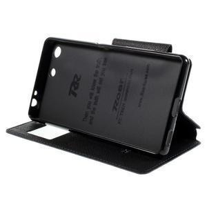 Diary pouzdro s okýnkem na Sony Xperia M5 - tmavěmodré - 5