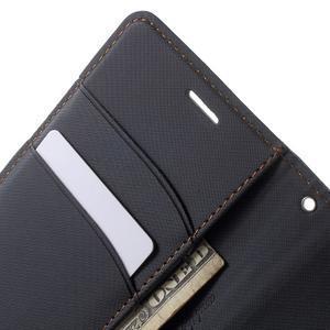 Wall PU kožené pouzdro na mobil Sony Xperia M5 - černé - 5
