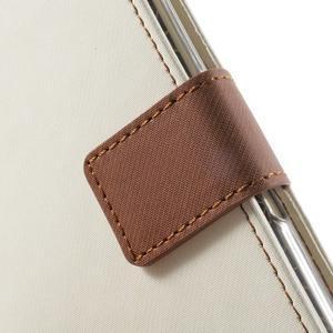 Wall PU kožené pouzdro na mobil Sony Xperia M5 - bílé - 5