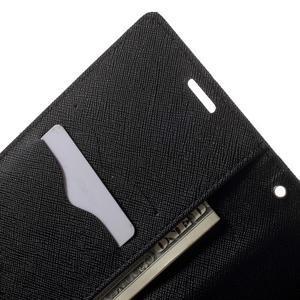 Goos PU kožené penženkové pouzdro na Sony Xperia M5 - černé - 5